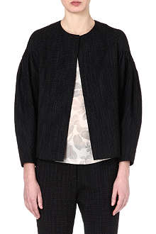 DRIES VAN NOTEN Micro spotted cotton-blend jacket
