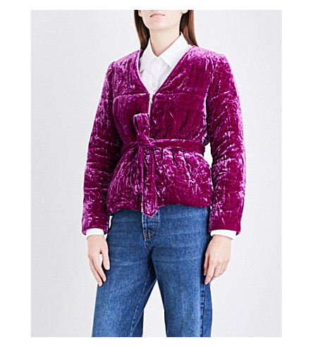 DRIES VAN NOTEN Volosa velvet jacket (Fuchsia