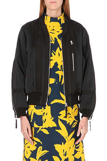 DRIES VAN NOTEN Vyra zip-detail satin bomber jacket