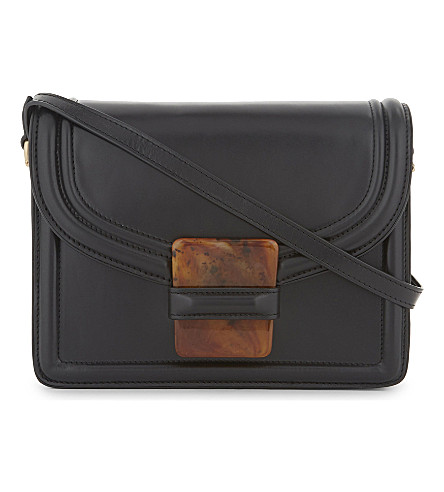 DRIES VAN NOTEN Smooth leather cross-body bag (Black