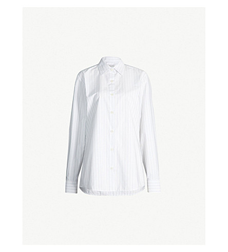 DRIES VAN NOTEN Striped cotton shirt (Des+a