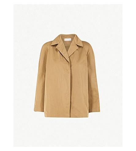 DRIES VAN NOTEN Cropped shell jacket (Kaki