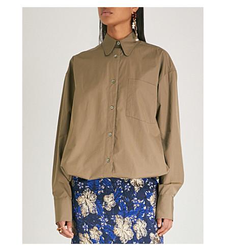DRIES cotton VAN NOTEN shirt Drawstring DRIES VAN Sand 5q645