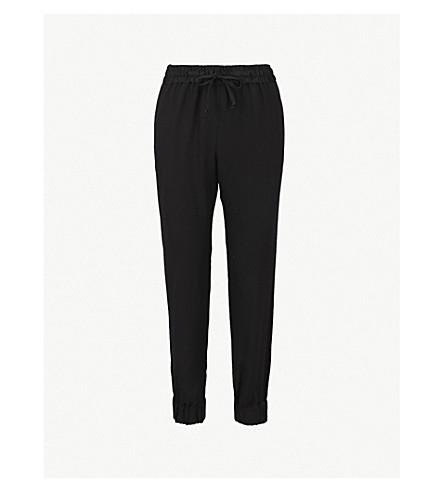 DRIES VAN NOTEN Slim-fit skinny crepe jogging bottoms (Black