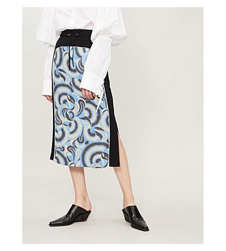 DRIES VAN NOTEN Floral-print crepe skirt (Madonna