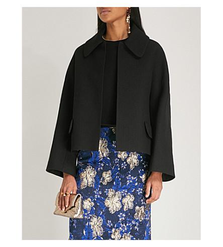 DRIES VAN NOTEN Quilted jacquard jacket (Black