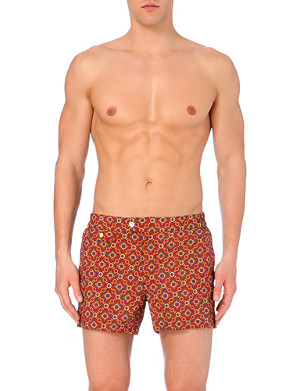 SLOWEAR Geometric-print swim shorts