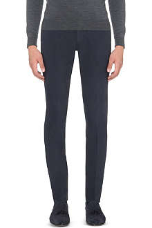 SLOWEAR Slim-fit tapered stretch-cotton trousers