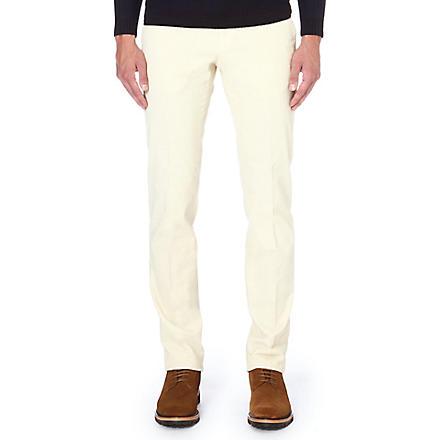 SLOWEAR Slim-fit corduroy trousers (Ivory