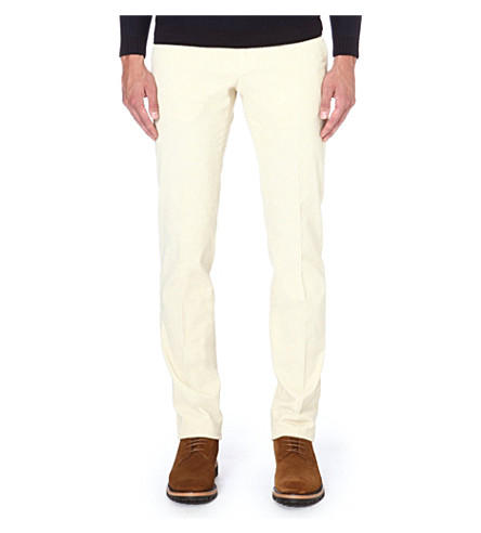SLOWEAR Slim-fit corduroy trousers (Ivory