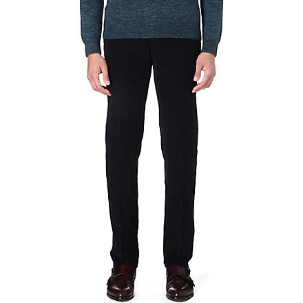 SLOWEAR Slim-fit corduroy trousers (Navy