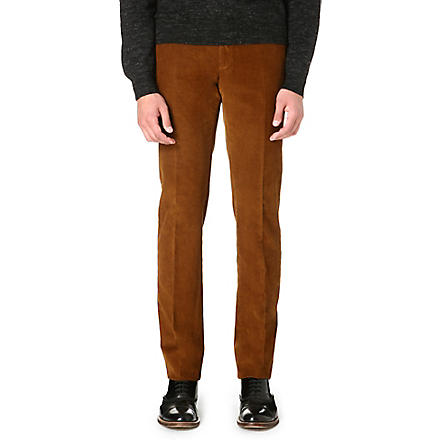 SLOWEAR Slim-fit corduroy trousers (Sable