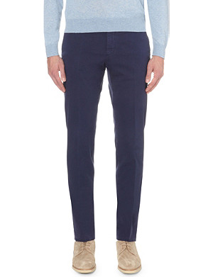 SLOWEAR Slim-fit tapered chinos
