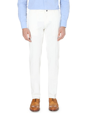SLOWEAR Cotton slim fit chinos