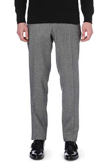 SLOWEAR Dogtooth print slim-fit wool trousers