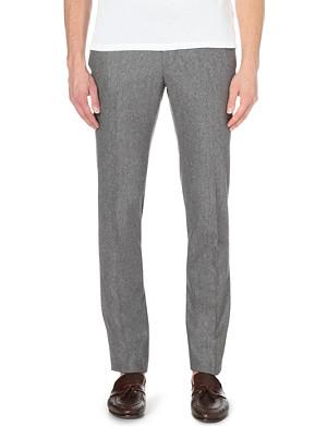 SLOWEAR Slim-fit tapered wool trousers