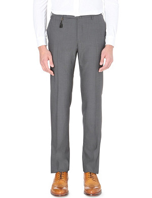 SLOWEAR Slim tapered wool trousers