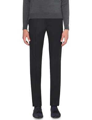 SLOWEAR Slim-fit tapered wool trousers