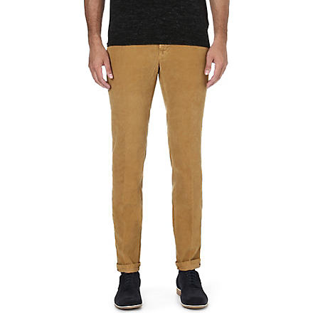 SLOWEAR Slim-fit corduroy trousers (Camel