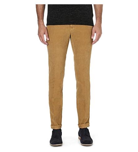 SLOWEAR Slim-fit corduroy trousers (Camel