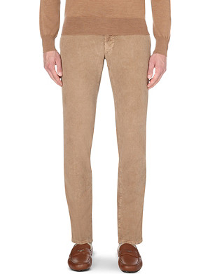 SLOWEAR Waffle-finish slim-fit tapered chinos