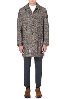 SLOWEAR Houndstooth wool-blend coat