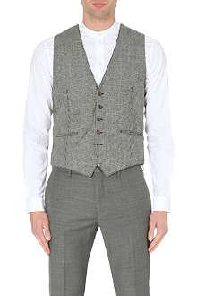 SLOWEAR Dogtooth wool-blend waistcoat