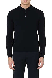 SLOWEAR Knitted long-sleeved polo shirt