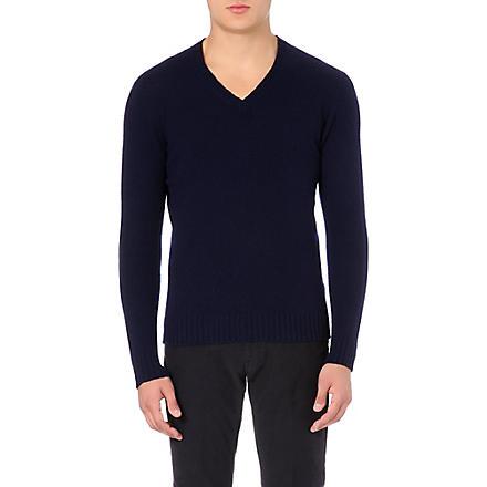 SLOWEAR Knitted wool jumper (Navy