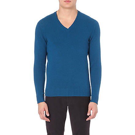 SLOWEAR Knitted wool jumper (Petrol