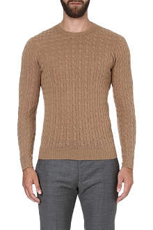 SLOWEAR Cable-knit jumper