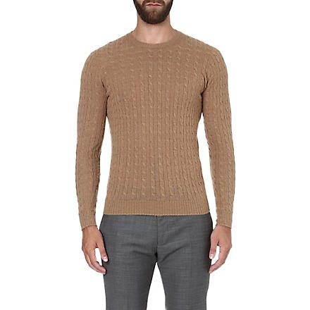 SLOWEAR Cable-knit jumper (Camel