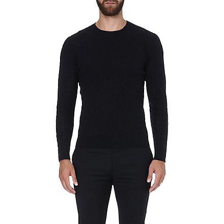 SLOWEAR Cable-knit jumper (Navy