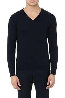 SLOWEAR V-neck knitted jumper