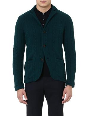 SLOWEAR Cable-knit cardigan