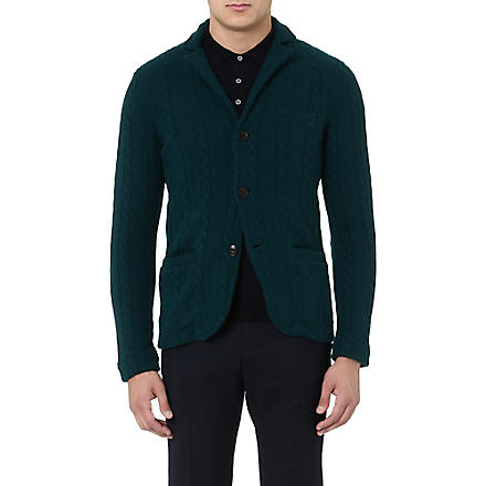 SLOWEAR Cable-knit cardigan (Emerald
