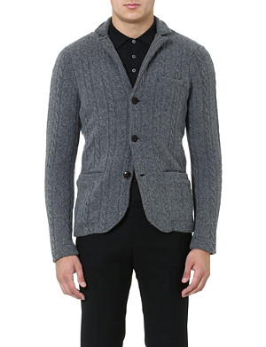 SLOWEAR Cable-knit cardigan