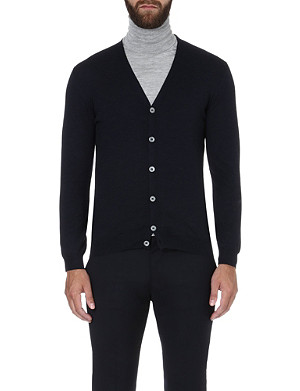SLOWEAR V-neck stretch-wool cardigan