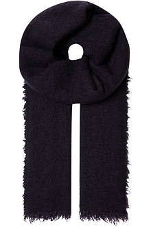 SLOWEAR Fringe knitted scarf