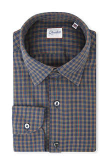 SLOWEAR Kurt checked regular-fit cotton shirt