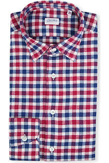 SLOWEAR Kurt slim tailored-fit gingham shirt