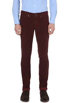 SLOWEAR Circle-print brushed-cotton trousers