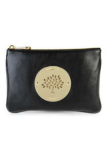 MULBERRY Daria glossy leather pouch