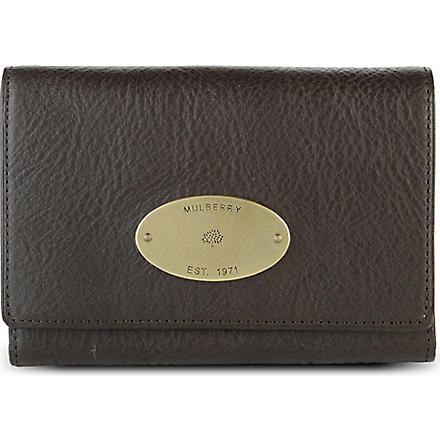 MULBERRY French leather purse (Choc