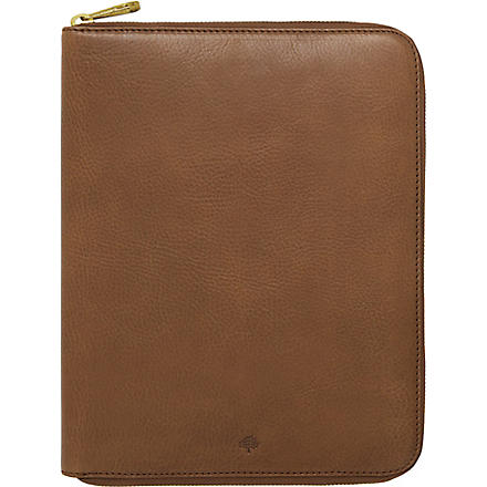 MULBERRY Leather iPad folio (Oak