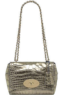 MULBERRY Lily metallic croc shoulder bag