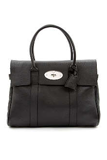 MULBERRY Bayswater grainy-print leather handbag