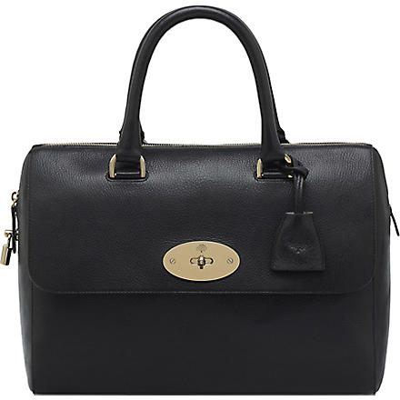 MULBERRY Del Rey glossy goat leather tote (Black