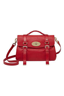 MULBERRY Valentines Alexa glossy goat leather satchel