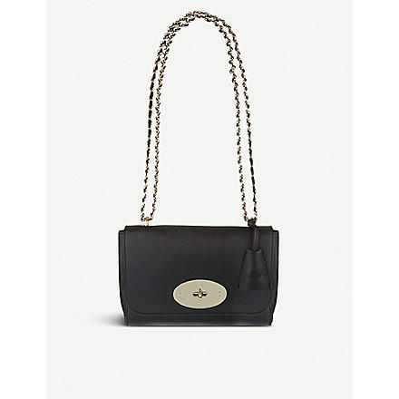 MULBERRY Lily glossy goat leather bag (Black